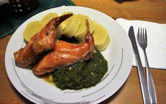 Conejo asado en Burgos